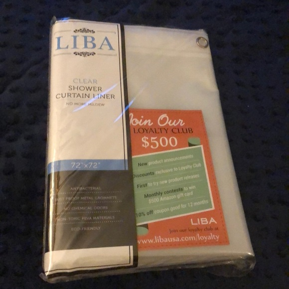 """Other - Shower Liner Clear 72""""x72"""" Antibacterial"""